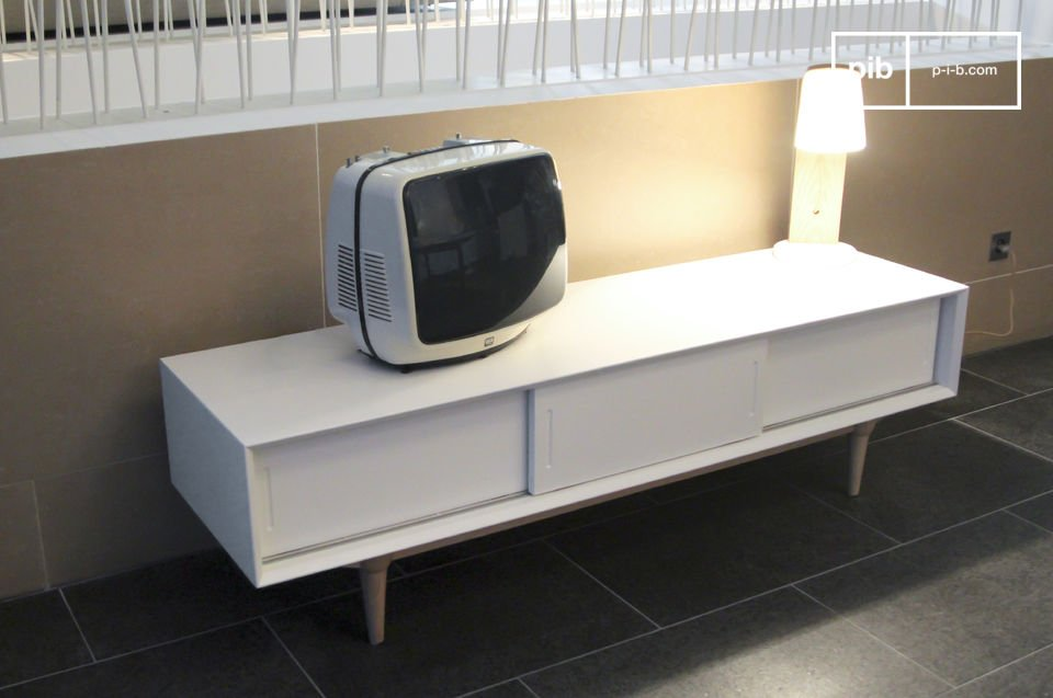 tv m bel fjord helles aufbewahrungsm bel retro stil pib. Black Bedroom Furniture Sets. Home Design Ideas