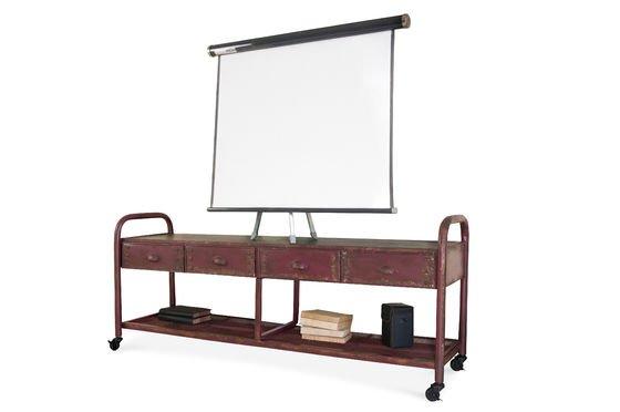 TV-Möbel im patinierten Industriedesign ohne jede Grenze