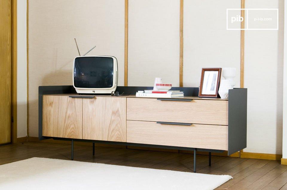 Diese TV-Möbel ist eine besonders praktische Möglichkeit seine Sachen aufzuräumen