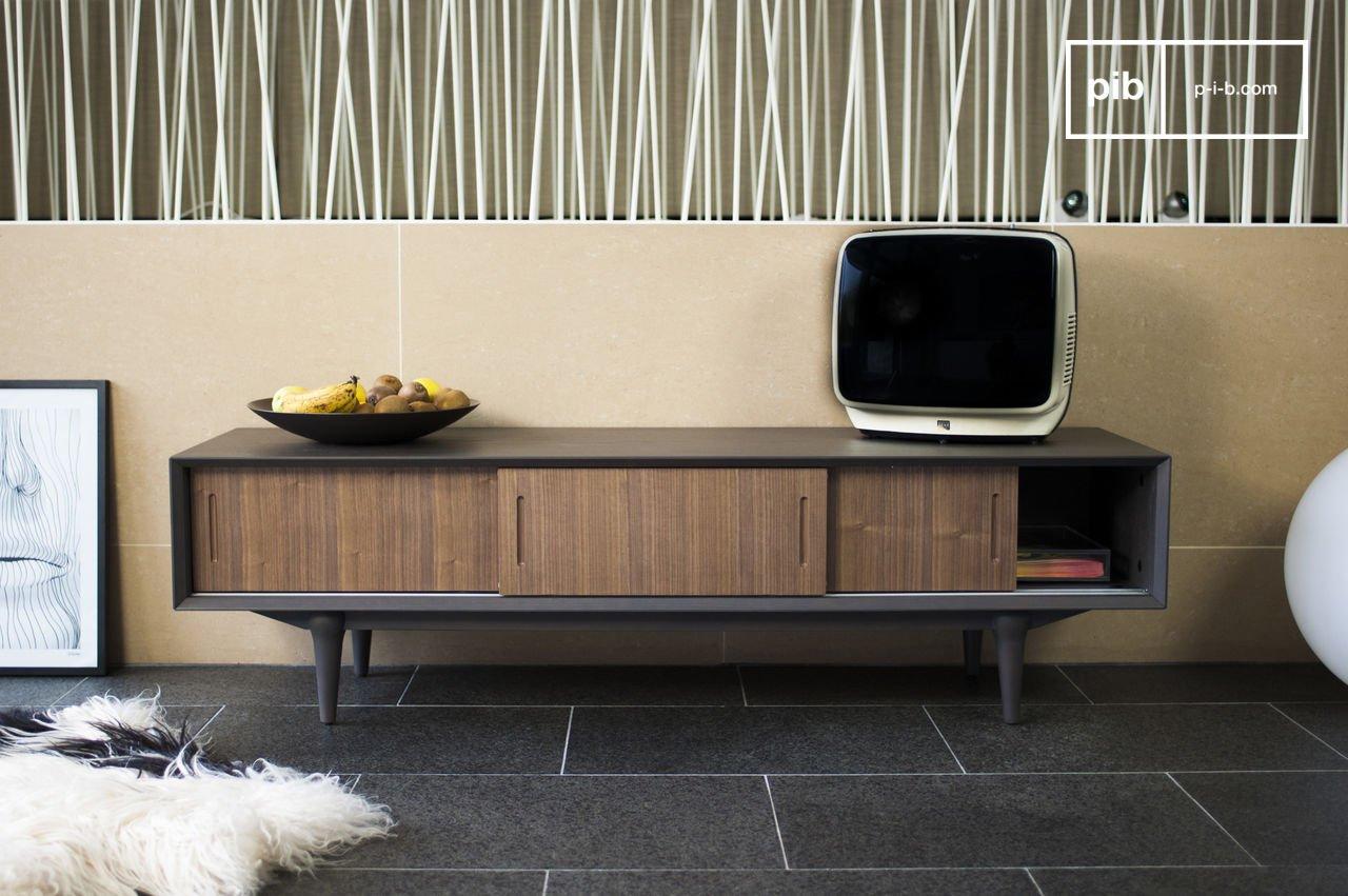 Tv möbel tumma fjord tv möbel aus holz stil der er pib