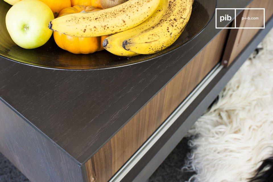 Dieses skandinavische TV Möbel im vintage Stil bringt Moderne und Eleganz in Ihr Wohnzimmer