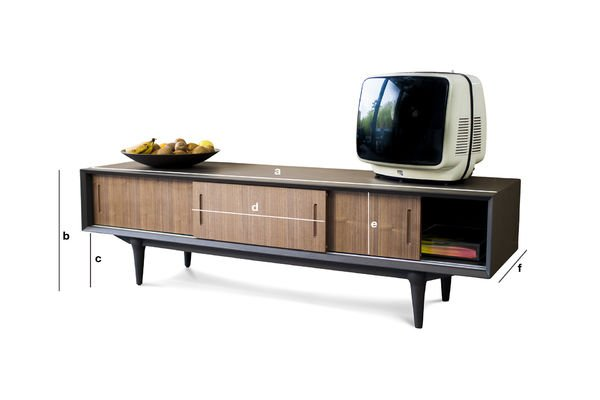 tv m bel tumma fjord tv m bel aus holz stil der 60er pib. Black Bedroom Furniture Sets. Home Design Ideas