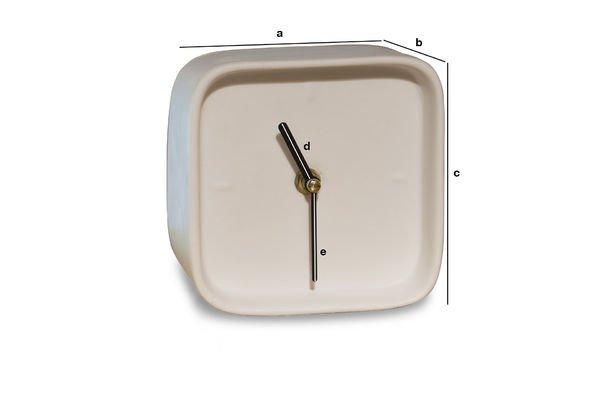Produktdimensionen Uhr aus Porzellan Fjorden