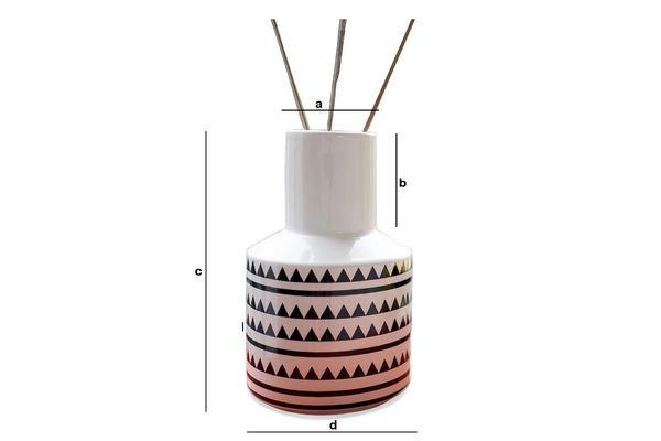 Produktdimensionen Vase Nora