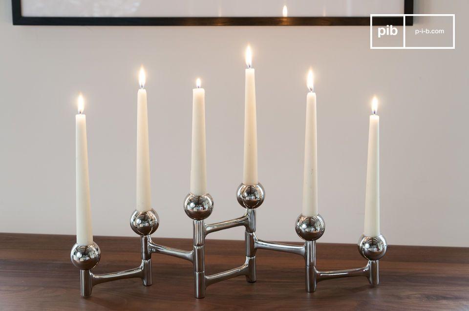 Ein stilvolles und vielseitiges Accessoire für sechs Kerzen