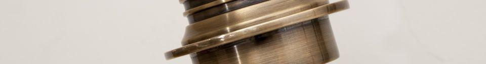 Materialbeschreibung Verstellbare Wandleuchte aus Lerwick-Messing
