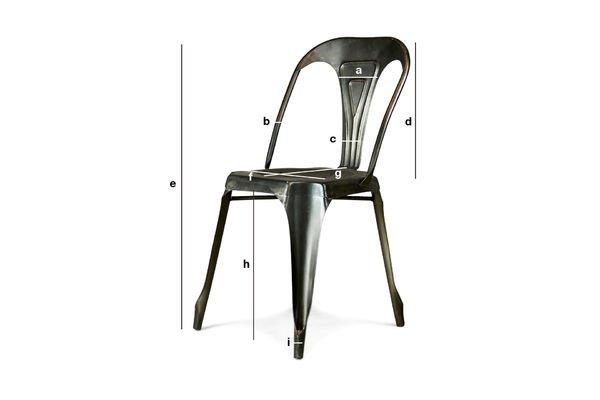 Produktdimensionen Vintage-Stuhl Multipl's