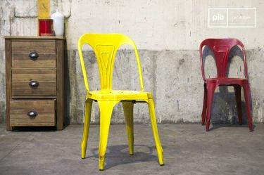 Vintage-Stuhl Multipl's Antikes Gelb