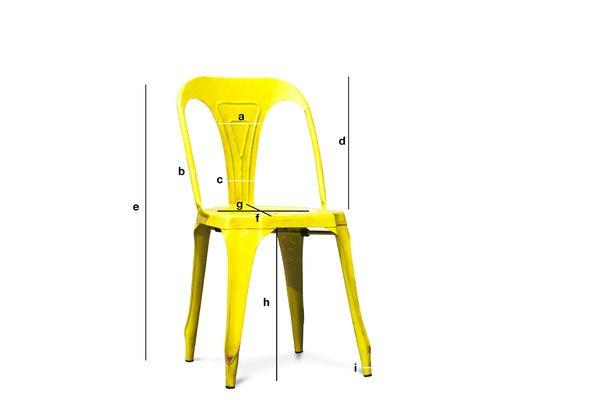 Produktdimensionen Vintage-Stuhl Multipl's Antikes Gelb