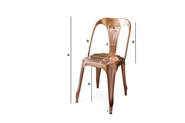 Produktdimensionen Vintage-Stuhl Multipl's Kupferfarben