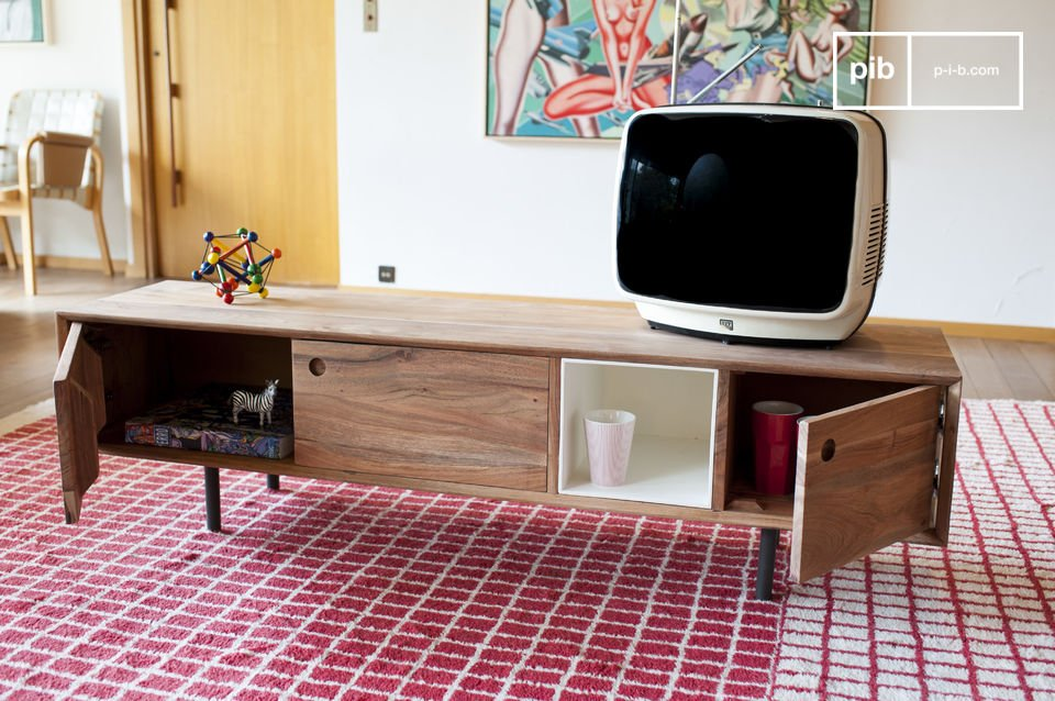 vintage tv m bel bascole sorgf ltiges design pib. Black Bedroom Furniture Sets. Home Design Ideas