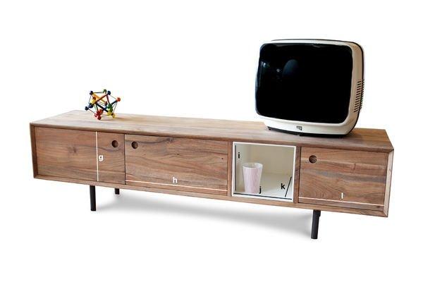 Produktdimensionen Vintage TV-Möbel Bascole