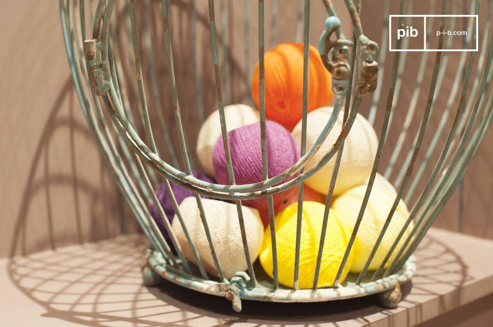 Schenken Sie Ihrem Interieur natürliches Retro Flair mit diesem Käfig voller antiquierten Charme