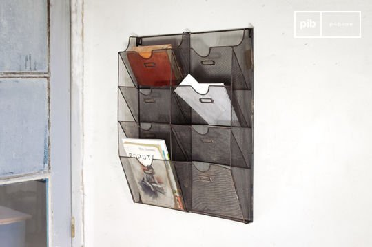 Wand-Prospekthalter aus Metallgeflecht