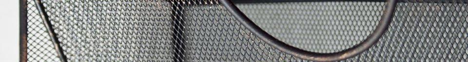 Materialbeschreibung Wand-Prospekthalter aus Metallgeflecht