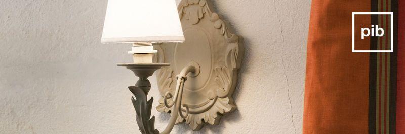 Wandlampe landhaus shabby chic bald zurück in der Sammlung