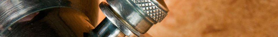 Materialbeschreibung Wandleuchte Bistro mit Schraube