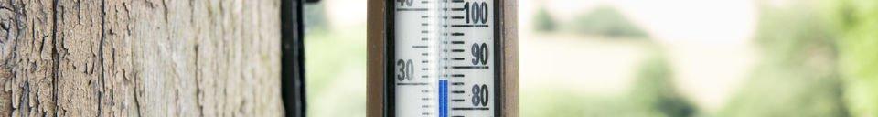 Materialbeschreibung Wandthermometer aus Messing