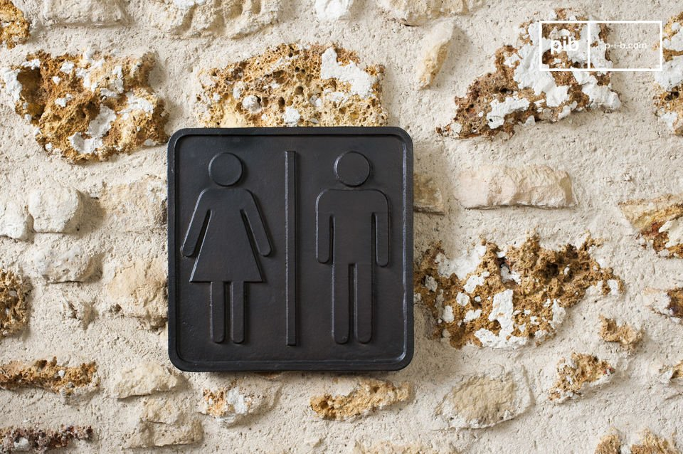 WC-Zeichen aus Bronze