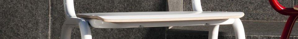 Materialbeschreibung Weisser Stuhl Skole