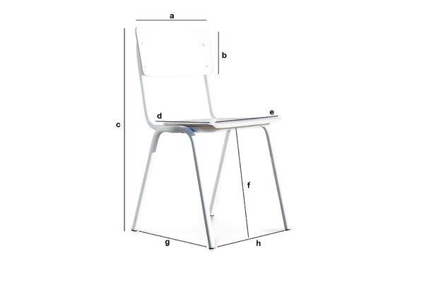 Produktdimensionen Weisser Stuhl Skole