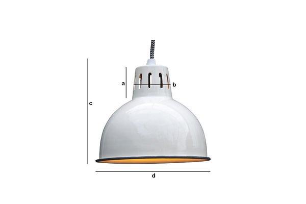 Produktdimensionen Weiße Lampe Snöl