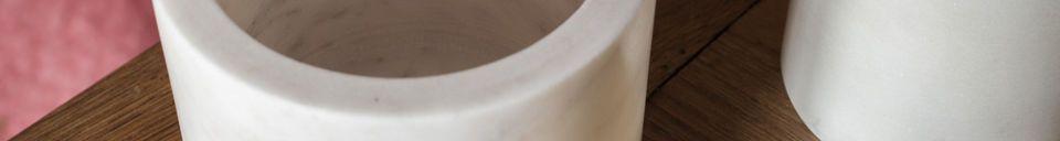 Materialbeschreibung Weiße Marmordose Wäg
