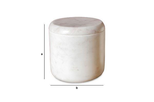 Produktdimensionen Weiße Marmordose Wäg