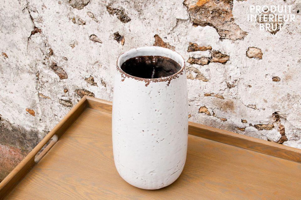 Weiße Vase Elisa