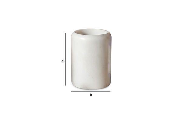 Produktdimensionen Weißer Marmorbehälter Wäg