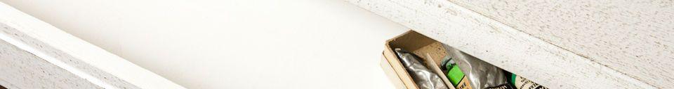 Materialbeschreibung Weißer Schreibtisch Frivole