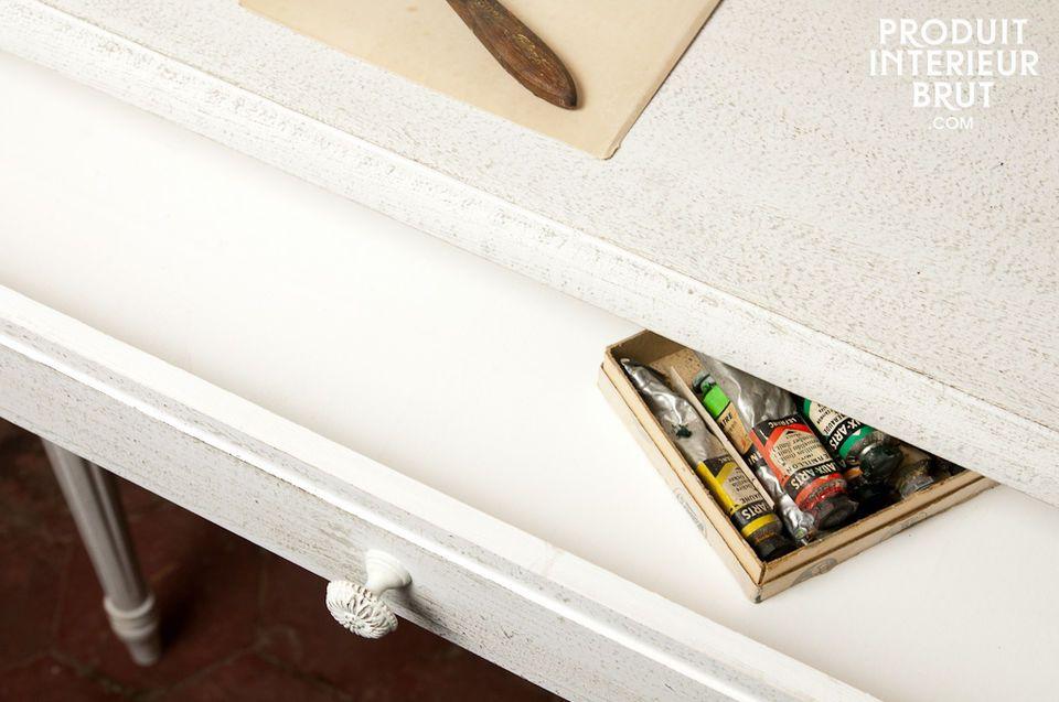 Kleiner Schreibtisch oder Konsolentisch im Retro Style und voller Charme