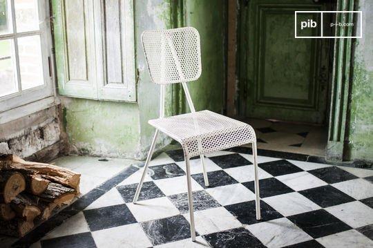 Weißer Stuhl Métalo