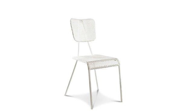 Weißer Stuhl Métalo ohne jede Grenze
