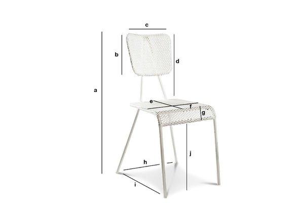 Produktdimensionen Weißer Stuhl Métalo