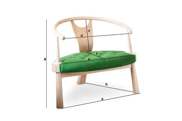 Produktdimensionen Wellinfield dreibeiniger Sessel