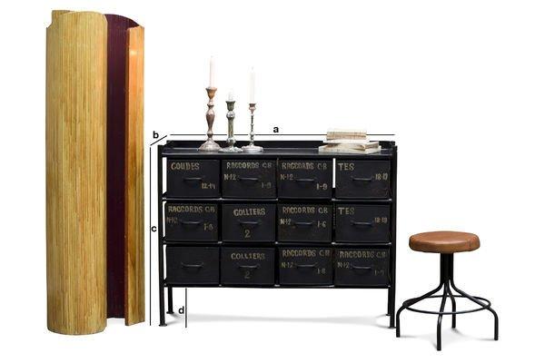 Produktdimensionen Werkstattmöbel mit 12 Schubladen