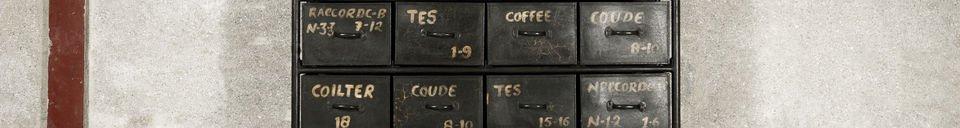 Materialbeschreibung Werkstattmöbel mit 24 Schubladen