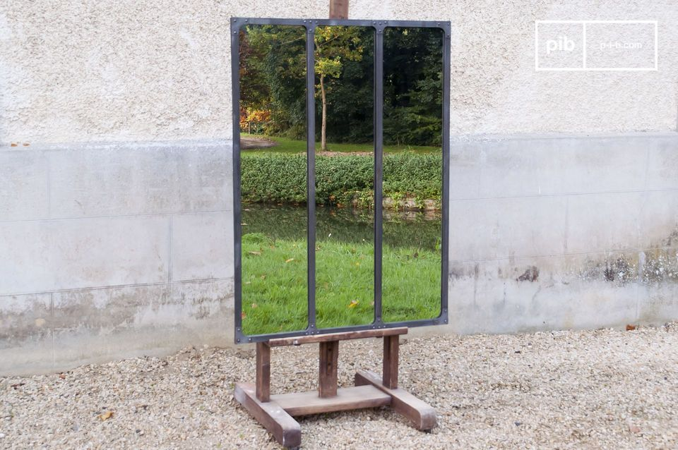 Werkstattspiegel mit Metallrahmen