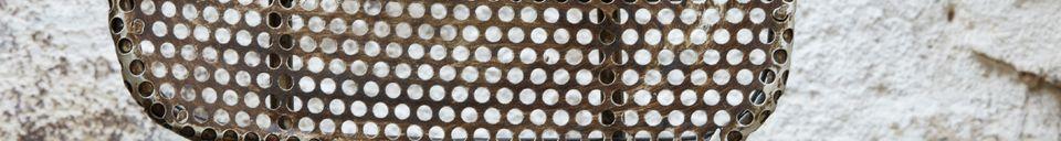 Materialbeschreibung Werkstattstuhl aus Lochblech