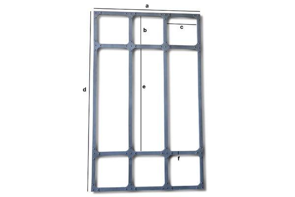 Produktdimensionen XXL Werkstattspiegel mit Metallrahmen