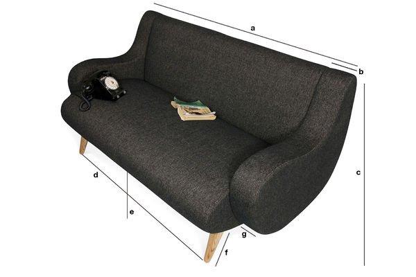 Produktdimensionen Zweisitzer-Sofa Genève