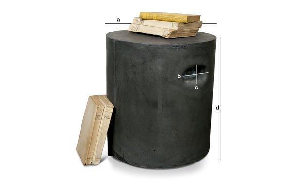Produktdimensionen Zylinderförmiger Sitz Smaton